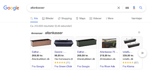 Google shopping-annonce